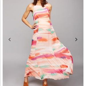 A Pea in the Pod Tie Dye Maternity Maxi Dress XS